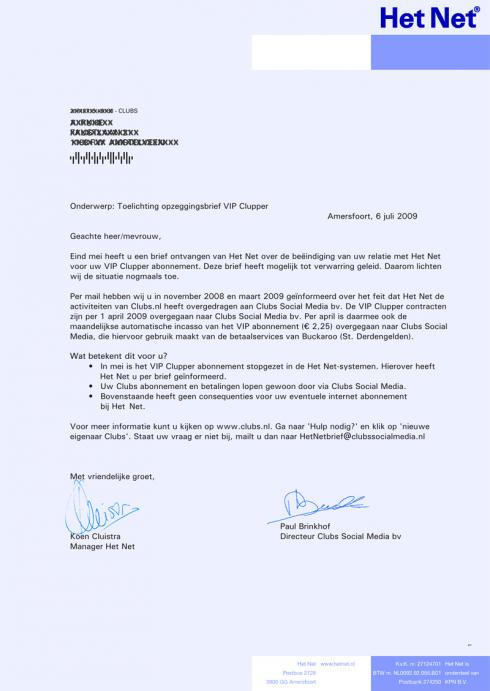 voorbeeldbrief opzeggen bankrekening Buckaroo clubs.nl uitleg voorbeeldbrief opzeggen bankrekening
